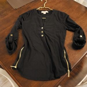 Michael Kors Black and Gold Shirt